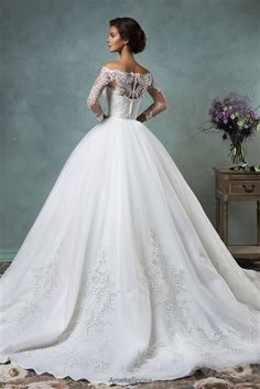 2016 Convertible #Wedding Dress! Two Dresses in One | Gorgeous Convertible Ball Gown & Mermaid Gown Featuring a Dipped Strapless Neckline, Removable Lace Off Shoulder Top with Long Sleeves and Back Covered Buttons, Beaded Lace Fitted Bodice Past Hips, Detachable Beaded Lace on Tulle Ball Gown Skirt with Court Train, Beaded Lace on Tulle Mermaid Skirt with No Train, Back Covered Buttons. #convertibleweddingdress #twodressesinone #ballgown #mermaidgown #lace #customweddingdress…
