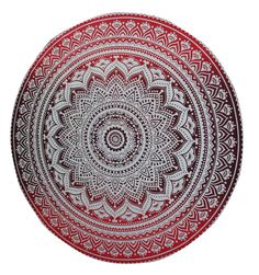 New Round Beach Towel Throw Rug Mandala Boho Tapestry Yoga Mat Boho Tapestry, Mandala Tapestry, Indian Mandala, Gypsy Decor, Red Rugs, Home Pictures, Throw Rugs, Rugs In Living Room, Art Deco Fashion