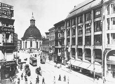 1910 Blick von der leipzigerstrasse in die Mauerstrasse,zur Dreifaltigkeitskirche