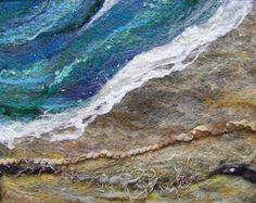 No.580 Sea Shore Too  Needlefelt Art Large by Deebs on Etsy, $65.00