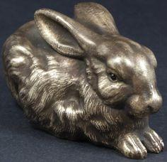 Elite Decorative Arts - Russian Silver Rabbit Figurine With Faberge Mark.