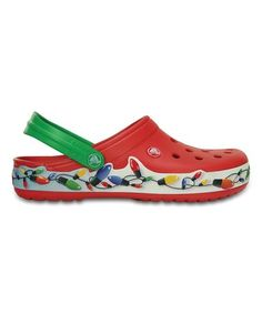9e530e90e12c1 This Red Crocband™ Holiday Lights Clog - Unisex by Crocs is perfect!   zulilyfinds