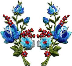Roses Pair Flowers Floral Retro Boho Hippie Appliques Hat Cap Polo Backpack Clothing Jacket Shirt DIY Embroidered Iron On / Sew On Patch (Blue) The Most http://smile.amazon.com/dp/B017TXXRKU/ref=cm_sw_r_pi_dp_zZHcxb1Z80CF1