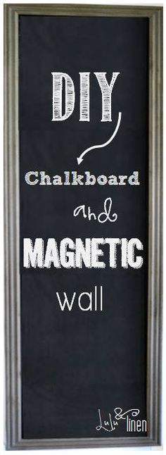Chalkboard wall or white board wall for all the witty things we say (obvs) THE BEST site for chalk wall. EXactly what I want to do.