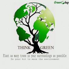 We belive in doing our bit DO YOU? #GreenoBag #thinkgreen