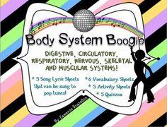 Human Body Systems (Lyric Sheets, Activities, Vocabulary)