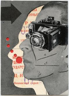 Taking a picture of yourself making a picture of your face, in Russian. Original hard to find. scrapatorium.blog...