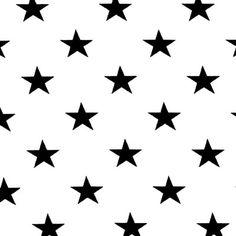 Jersey Grandes étoiles 1 - Coton - Élasthanne - blanc