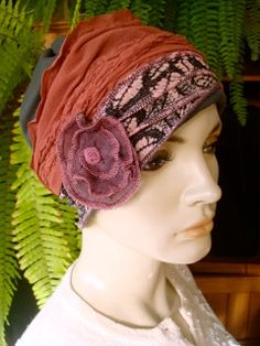 Womens Summer Hat for Chemo or Hairloss  by GypsyLoveHeadbands, $48.00