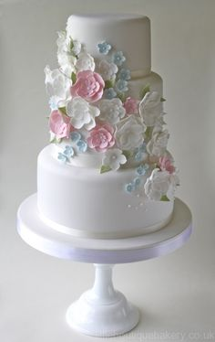 Country Garden Wedding Cake