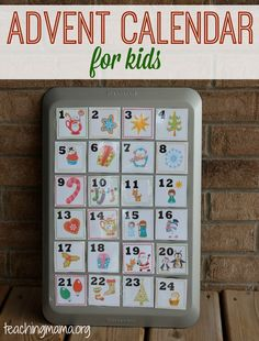 Advent Calendar for Kids {Free Printable!}