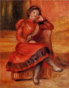Spanish Dancer in a Red Dress - Pierre-Auguste Renoir