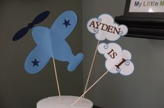 Airplane Cake Topper Airplane Smash Cake Airplane by GiggleBees, $15.00