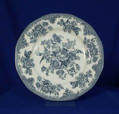 Parliament by Premiere England Pattern Asiatic Pheasants Blue Dinner Plate #ParliamentbyPremiere