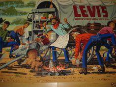 Denim & Workwear Western Wild, Western Theme, Western Art, Vintage Jeans, Vintage Outfits, Vintage Fashion, Poster Ads, Levi Strauss, Fashion Branding