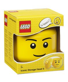 LEGO 7.28'' Boy Minifigure Storage Head. Lil' LEGO fans keep their favorite building blocks and other toys neatly organized using this storage piece. 7.28'' H x 6.3'' diameterPolypropyleneHand washRecommended for ages 3 years and upImported Flintstones Fancy Dress, Avengers Bedroom, Baby Freebies, Kid Swag, Lego Birthday, Free Gift Cards, Legoland, Bath And Body Works, Legos