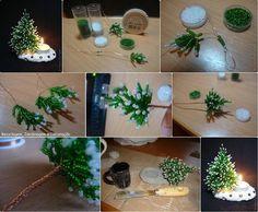 Árvore Natalina = Arame + Miçangas Como fazer: http://krasota.uz/6777