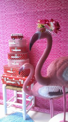 The Kitsch Kitchen flamingo in Casa Maria, Breda.