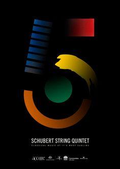 Australian Chamber Orchestra II Poster ~ Shubert String Quintet | Design: Georgia Perry georgiaperry.net