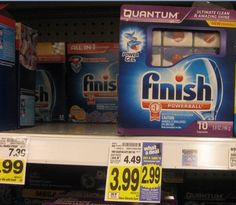 KROGER:  Finish Dish Detergent ONLY $0.84!!