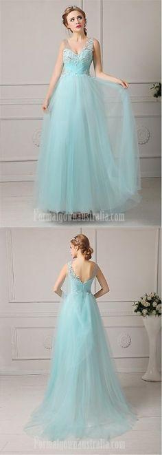 long blue formal dress #blueformaldress #formaldress Cheap Formal Dresses, Formal Evening Dresses, Evening Gowns, Pink Plus Size Dresses, Petite Dresses, Formal Dresses Australia, Pink Candy, Collar Dress, Tulle Dress