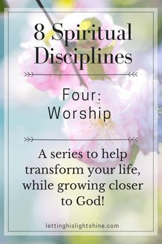 8 Spiritual Disciplines-Four: Worship. A series to help transform your life, while growing closer to God! I believe more than an activity, worship is a feeling or an attitude. Worship should come from deep within our hearts. Hearts over flowing with pure I Love My Father, Spiritual Disciplines, Spiritual Practices, Christian Faith, Christian Living, Christian Women, Worship The Lord, Praying To God, Spiritual Growth