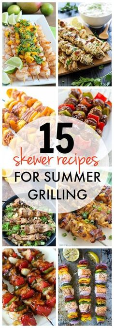 Summer time grilling is always more fun when kabobs are involved! Get ready to fire up the grill with these 15 skewer recipes! Summer time grilling is always more fun when kabobs are involved! Get ready to fire up the grill with these 15 skewer recipes! Summer Grilling Recipes, Healthy Summer Recipes, Barbecue Recipes, Grilling Ideas, Barbecue Sauce, Easy Grill Recipes, Recipes For The Grill, Best Bbq Recipes, Griddle Recipes
