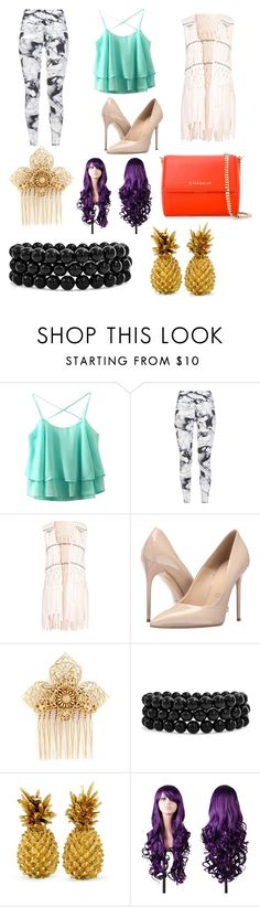 """Untitled #14"" by emilywolf40 ❤ liked on Polyvore featuring Varley, Hot Anatomy, Massimo Matteo, Miriam Haskell, Bling Jewelry and Givenchy"