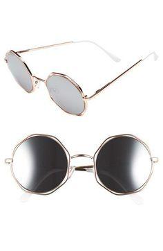 137a81a53e430 Fendi 51MM Metal Octagonal Sunglasses ( 425) ❤ liked on Polyvore ...