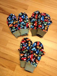 Kinder Handschuhe selber genäht!