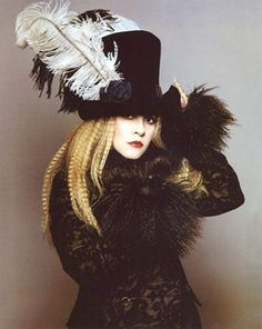 Stevie  ~ ☆♥❤♥☆ ~     in all her finery photographed by Cliff Watts for Harper's Bazaar, 1997