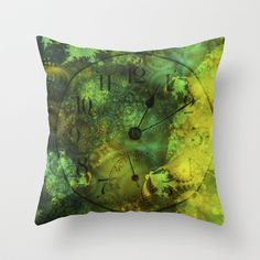 Time Warp Throw Pillow by Ian Mitchell - $20.00