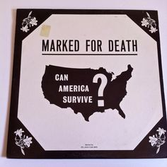 Marked For Death Can America Survive? Vinyl Record LP 1972 Dr. Jack Van Impe Religious Sermon by vintagebaronrecords on Etsy