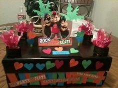 Not many boy themes Valentine box ideas out there! My 7 year old son and I made this for his school party last year :) used a musical card- everytime the flap was lifted open it sang!