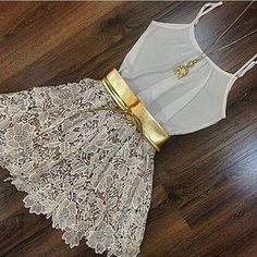 Tpmoda 2015 venda quente da moda branca sem mangas das mulheres lace casual sólidos o pescoço vestido bonito