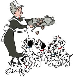Dalmatian Puppies and Nanny