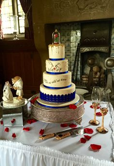 Beauty and the Beast Wedding Cake today for Johnson and Clark wedding today. Fanhams Hall; An Exclusive Venue.