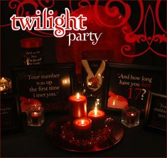 twilight party ideas. i know someone who would love this @Ashlei Phelps