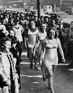 As part of their strike, these members of the International Ladies Garment Workers Union marched in their corsets.  Via: coolrevolution.net