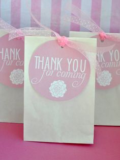 PRINTABLE FAVOR TAGS Vintage Girly Baby Shower by lovetheday, $5.00