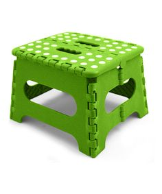 Take a look at this home basics Green Folding Step Stool today!