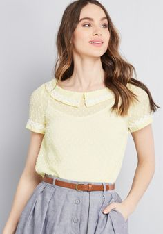 d370d41f63871 Lovely Touches Short Sleeve Top. ModCloth