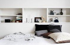 idé till förvaring ovanför säng