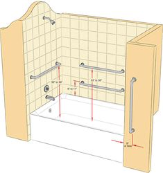 The Images Collection of Renovation whellchair accessible shower design 20 - ARCH. Ada Bathroom, Handicap Bathroom, Bathroom Safety, Small Bathroom, Master Bathroom, Bathroom Ideas, Relaxing Bathroom, Bathroom Designs, Bathroom Showers