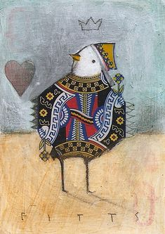 Bird Queen of Hearts ACEO by SethFitts on DeviantArt