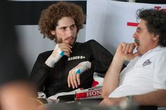 Paolo Simoncelli and Marco Simoncelli Photo - MotoGp Tests In Sepang - Day Three