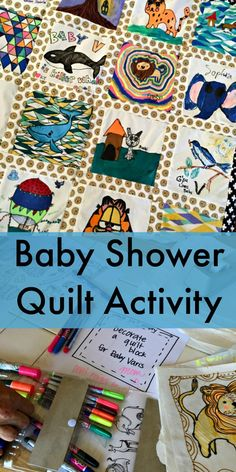 Creative Baby Shower Quilt Activity This Is So Fun And