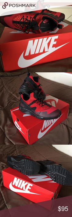 💥PRICE DROP💥NIKE AIR HUARACHE UTILITY NEW NEVER WORN NIKE SNEAKERS. 100% AUTHENTIC. COMES W/ BOX. Nike Shoes Sneakers