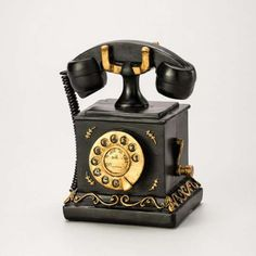 Cofre Telefone Vintage Lyor Classic - A19 x L16 x P14 - Mobly - R$ 80