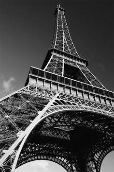 Tableau Toile Déco - Tour Eiffel en Noir et Blanc